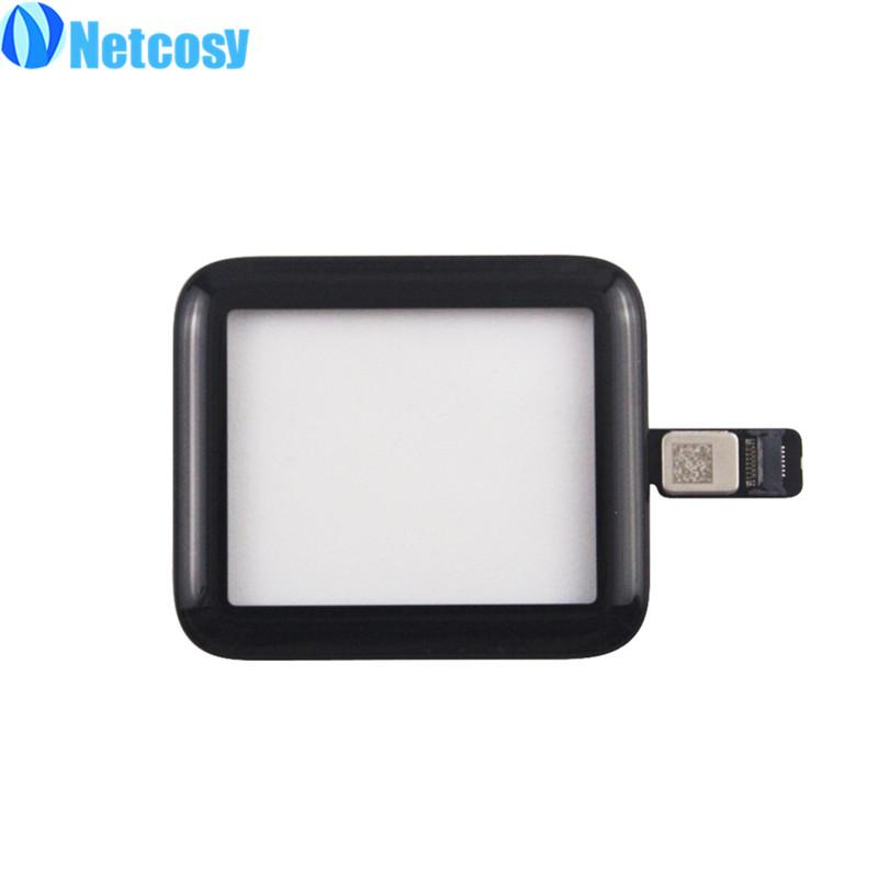 Netcosy 38мм 42мм с сенсорным экраном дигитайзер панели стеклянный объектив для Apple, часы 38мм 42мм Серия 2 серия 3 сенсорный экран repiar части