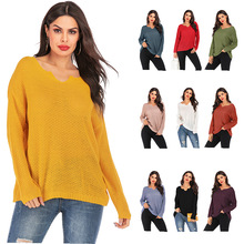 knit sweater women pink harajuku plus size womens sweaters pullovers v-neck flat knitted casual oversized fashion korean 2019