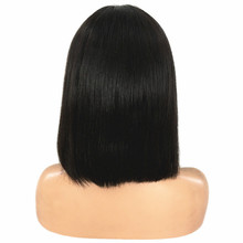 Short Human Hair Bob Wigs Brazilian Lace Front Human Hair Wigs For Black Women Remy Straight Lace Front Wig 130% 4×4 Closure Wig