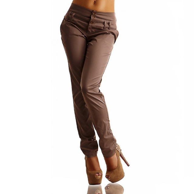 Pantalones de Las Mujeres de Moda 2016 Nueva Causal Mujeres Desgaste DEL Trabajo DEL OL Delgado Lápiz Pantalones Para Las Mujeres/Mujer Plus Tamaño de Las Mujeres ropa LJ5444T