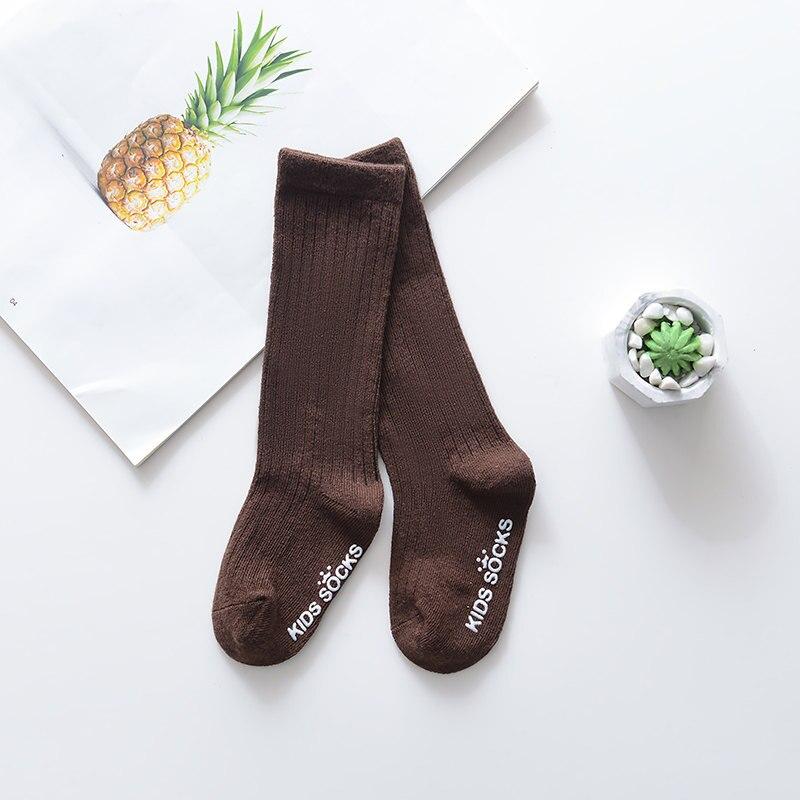 Новые детские носки гольфы с большим бантом для маленьких девочек, мягкие хлопковые кружевные детские носки kniekousen meisje, Прямая поставка#30 - Цвет: Flat mouth brown