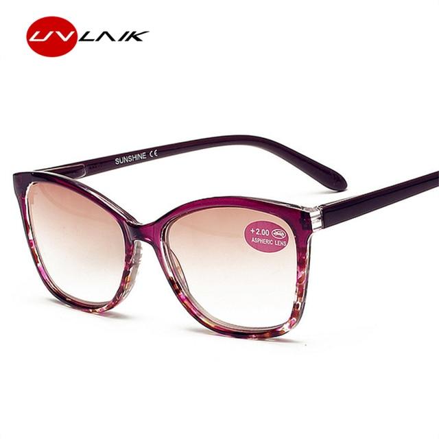 UVLAIK TR90 Sunglasses Women Oversized Sun Reading Glasses for Men Hyperopia Presbyopia with diopters Presbyopia Glasses +2.0