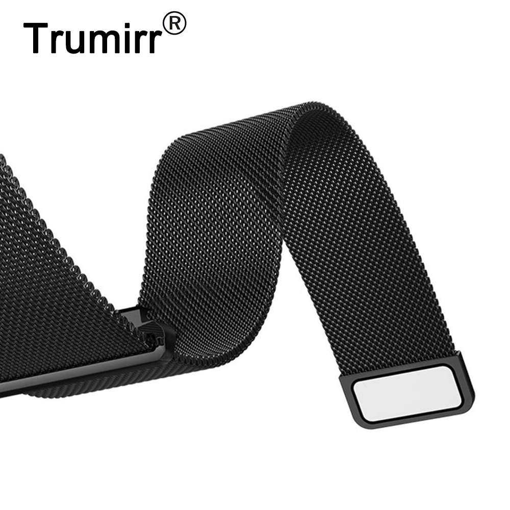 Milanese Loop Strap 16mm 18mm 20mm 22mm 23mm 24mm Universal Stainless Steel Watch Band Quick Release Bracelet Magnet Buckle Belt