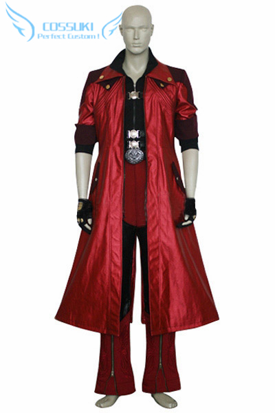 Newest High Quality Devil May Cry IV 4 Dante Uniform Cosplay Costume ,Perfect Custom For You !