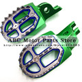 Billet MX Wide Foot Pegs Rests Pedals For KLX KXF KLX450R KXF250 KX250F KXF450 KX450F Motorcycle Motocross Enduro Motard