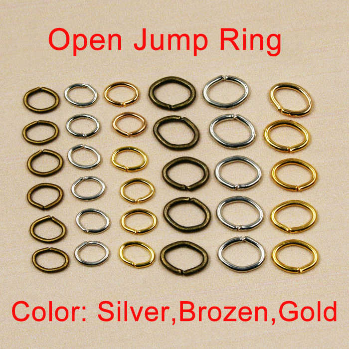 Hot Selling! 200 - 450 pcs/lot Silver Bronze Gold Jewelry Findings,4x5mm, 6x7mm Jump rings,Open Jump rings for jewelry making