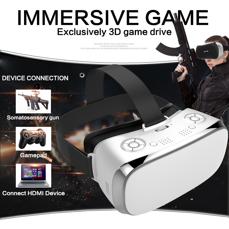VR All In One Glasses RK3288 Quad core 2G RAM 16G ROM 5.5 inch FHD 1080P Display WIFI 3D Glasses Virtual Reality Headset VR caraok v12 android 4 4 all in one 3d vr virtual reality glasses allwinner h8 quad core 2g 16g support wifi bluetooth otg f19631