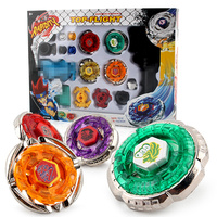 4pcs Set Beyblade Metal Fusion 4D Launcher Beyblade Spinning Top Set Kids Game Toys Children Christmas
