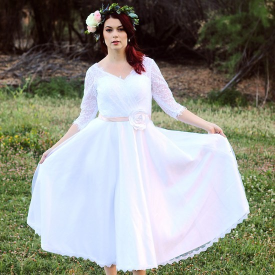 3 4 Length Vintage Wedding Dresses: Compare Prices On 1950s Wedding Dresses- Online Shopping