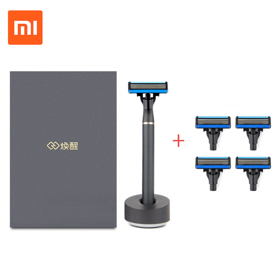 Original Xiaomi Razor 3 in1 Sets Shaver 7 in1 A Sets Replaceable Beard Men H600 Manual Magnetic Shaving Razor Best Gift For Men original 7 1658462 3