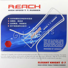 Reach C-7 (C7, C 7) (No ITTF) Long Pips-Out Table Tennis (Ping Pong) Rubber Without Sponge (Topsheet, OX)
