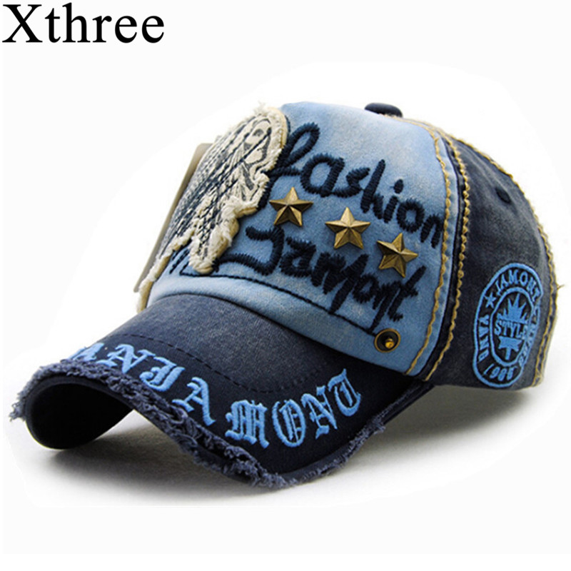 Xthree brand cotton fashion embroidery antique style Baseball Cap casquette snapback hat for men women xthree camouflage baseball cap mesh cap for men women snapback hat for men bone gorra casquette fashion hat