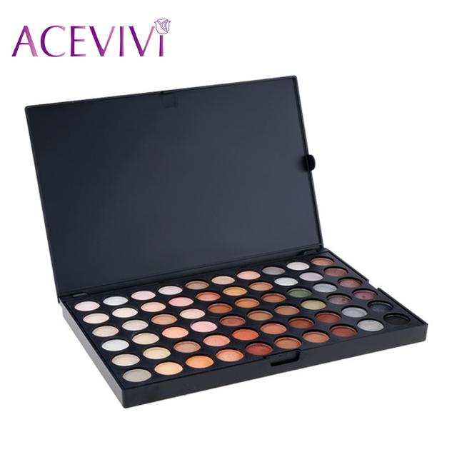 Acevivi novos cosméticos neutro smoky profissional 120 cor da sombra de olho conjunto paleta da sombra de cosméticos de cor 31