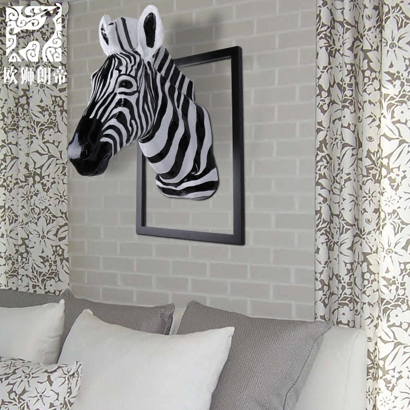 head Arts Crafts The spot horse deer head hanging clothing store restaurant decoration wall decoration resin animal head mural.