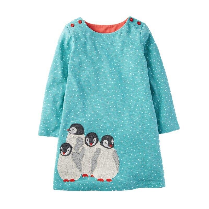 VIDMID Girls dresses baby girl long sleeve dress cotton