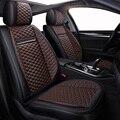 Alta calidad PU cuero asiento de coche cubre fit volkswagen vw passat b5 b6 polo golf tiguan 5 6 7 jetta touran touareg estilo etiqueta