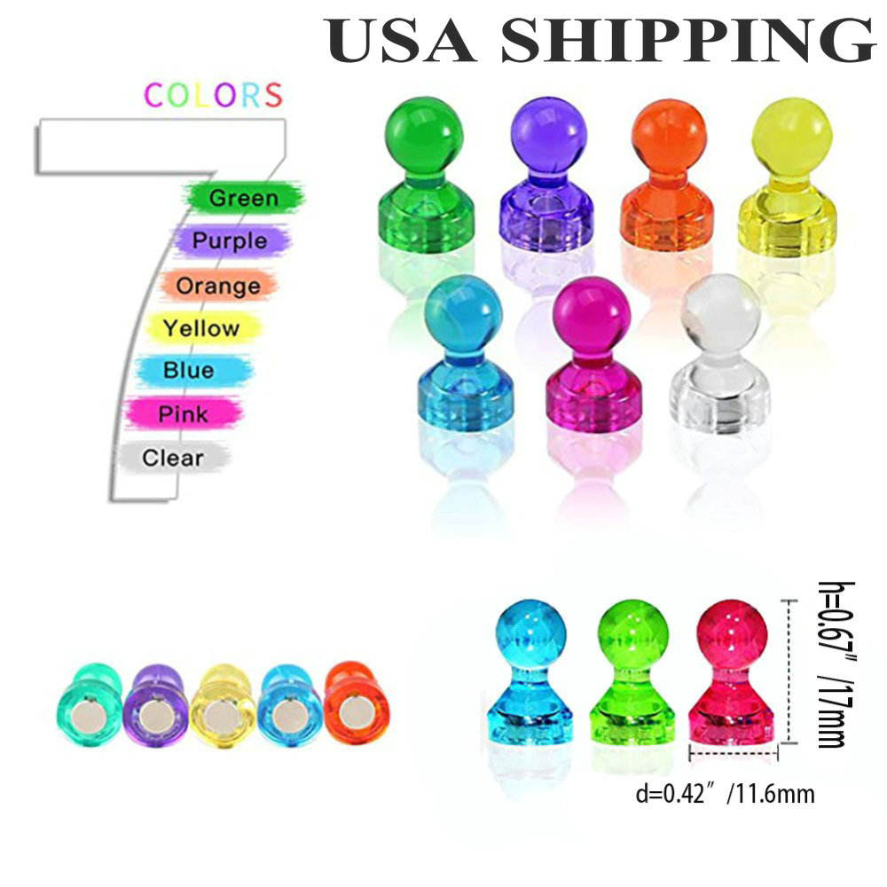 Magnetic Push Pins Clear 4 Fridge Office Map Magnets Kitchen Magnetics Whiteboard Magnets Fun Colorful Photo Classroom Magnet салатники fun kitchen