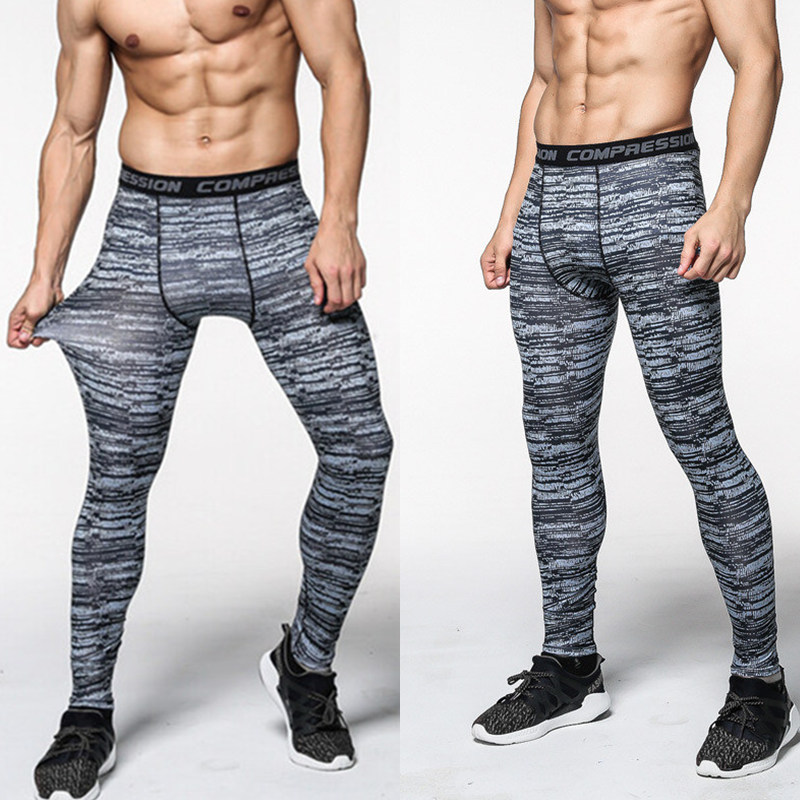 Men camouflage pants compression quick drying trousers Leggings Running  sports workout Gym male trouser capris of fitness S 3XL-in Running Tights  from ... d1debbfcafcf