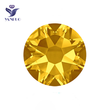 YANRUO #2088HF SS20 Topaz 1440Pcs 8 Big + Small Hotfix Strass Crystals Hot Fix Flatback Iron On Rhinestone