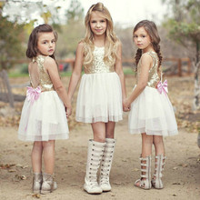 okoufen 2019 new fashion baby girl dress summer brand princess for girls kids clothing bow party and wedding
