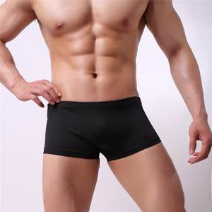 Sexy Men Underpants Boxer Silk Male Cueca Solid 200pcs/Lot Homme Factory Quickly Wholesale