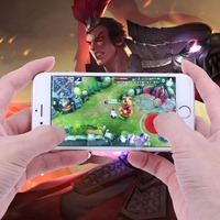 Red Color 2X Suction Cups Touchscreen Phone Tablet Gamepad Controller Joystick Sensitive for All Touch Screen Devices