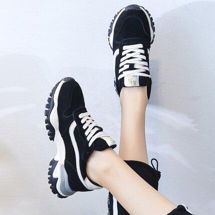 Chaussures Fond Harajuku 1 Ulzzang Sport 2018 Vieux Coréenne Version De 2 Épais Augmenter Nouvelles Sauvage 50OOqZ