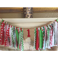 HAOCHU First Party Highchair Bunting One In Burlap Baby Girl Room Garland Nursery Kids One Year