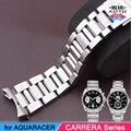 Correa de Acero inoxidable de 22mm de Banda para TAG AQUARACER Heuer CARRERA Serie Pulsera de Hombre Accesorios Broche Plegable Correa + Free HERRAMIENTAS