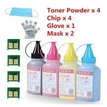 Für hp 350 cf350 schwarz toner-pulver und chip handschuh maske für LaserJet Pro MFP m176n 177fw drucker pulver versandkostenfrei
