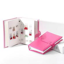 Women's PU Leather Stud Earrings Storage Box