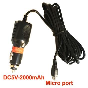 Adaptador de cargador con puerto USB Universal Micro USB para cámara DVR de coche Entrada de navegación GPS 12 V-24 V salida 5V 2A, longitud del Cable 3,5 m