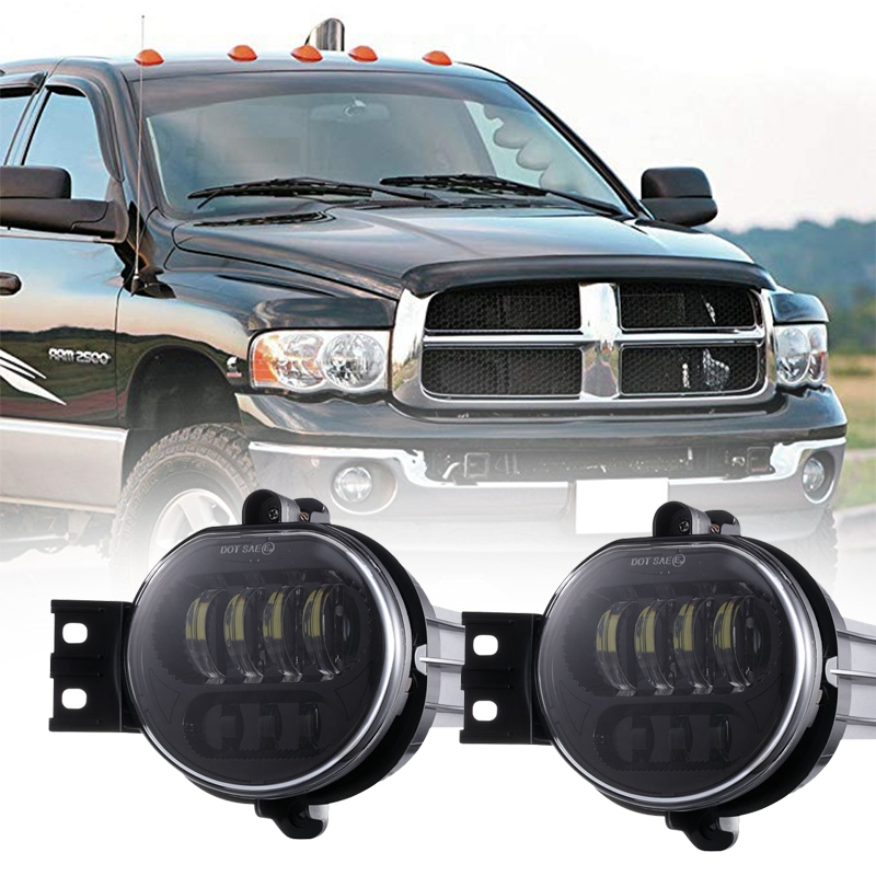 Chrome 63W Led Fog Light For Dodge Ram 1500 2002-2008 For Dodge Ram 2500/3500 2003-2009 Fog Lamp Pasing Lights стоимость