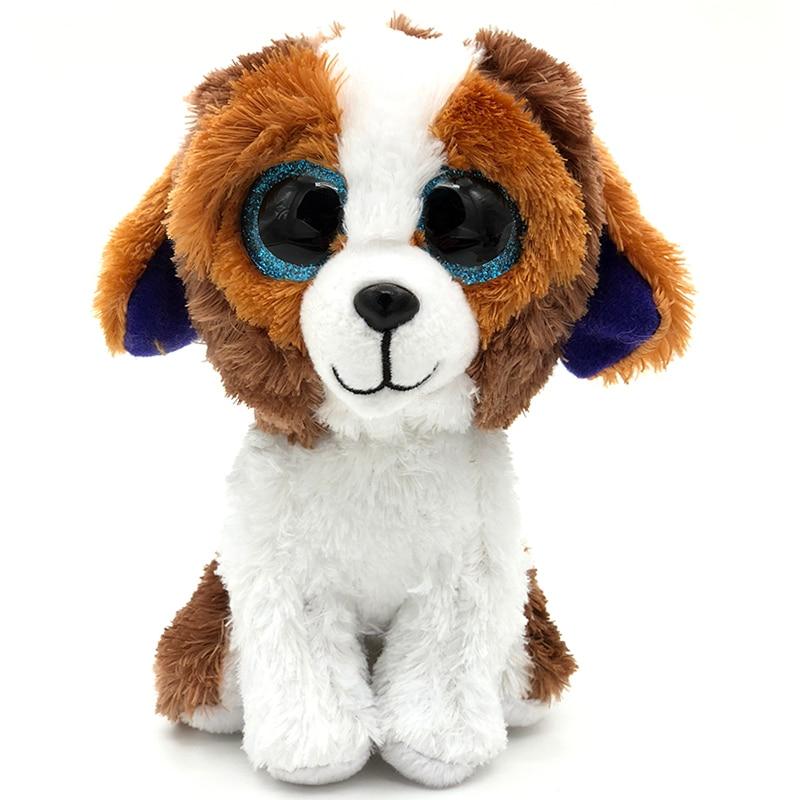 Big eyes 15cm Ty Beanie Boos Kawaii Stuffed Doll Animal Cute Dog Soft beanie boo Plush Toys Stuff Ty Toys For Girl Gift Children мягкая игрушка ty beanie boo s котенок sophie 15 см