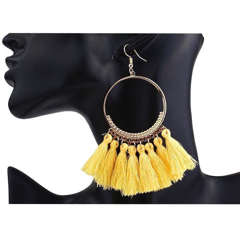 cjh002-2 Christmas Hoops Tassle Tassel Earrings Drop Fringe Earrings