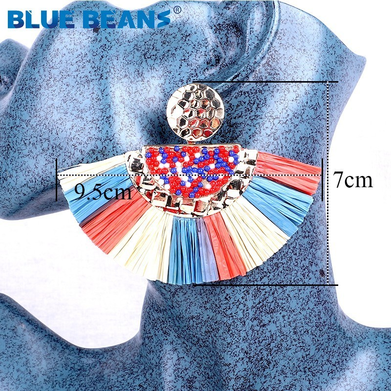Tassel Earrings 2020 For Women Bohemian Dangle Earrings Fashion Jewelry Rattan Star Drop Earrings Punk Gifts Face African Luxury
