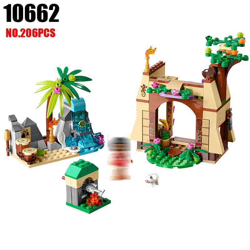 10662 206pcs Girls Friends Princess Vaiana Moana Ocean Voyage Bela Building Block Compatible 41149 25004 Brick Toys For Children princess ponies 6 best friends for ever