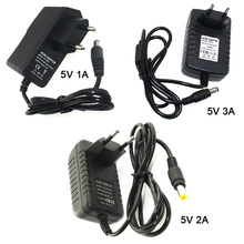 EU/US Plug 5V 1A/2A/3A Adapter Power Supply Adapt to 110-220V For DC Motor Electric Drill LED Strip Switch (B10+B11+B12)