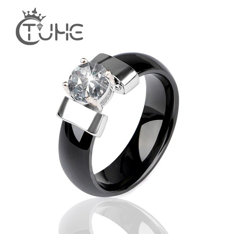 Black Ceramic Wedding Ring...