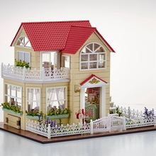 New DIY 3D Wooden Dollhouse Princess Room Handmade Decorations Birthday Gift Children Toy With Furnitures for Birthday Gift(China)