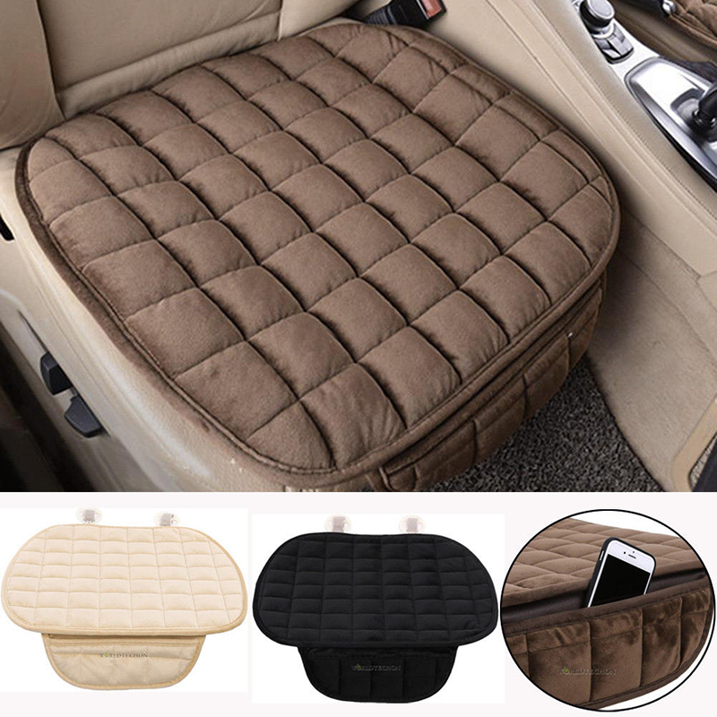 Auto 1set 3pcs Winter Plush Anti Slip Car Seat Cover Lattice Cushion Seat Cover Pad Mat Chair Coffee Dec30 Last Style Automobiles & Motorcycles