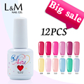 Big Sale 12 Pcs Gelartist Gel Laquer Colorful Soak Off UV Gel Nail Polish (10Colors+1Top+1Base Coat) China Nails  Supplier