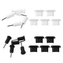 10 комплектов, защита штекера Micro USB, 3,5 мм, наушники, наборы, пылезащитный инструмент, поддержка SIM карты, для смартфона