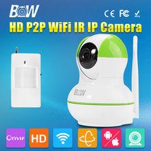 BW IP Box Camera HD Wireless Wifi Home Video Security Surveillance CCTV with Infrared Motion Sensor GSM Burglar Automatic Alarm