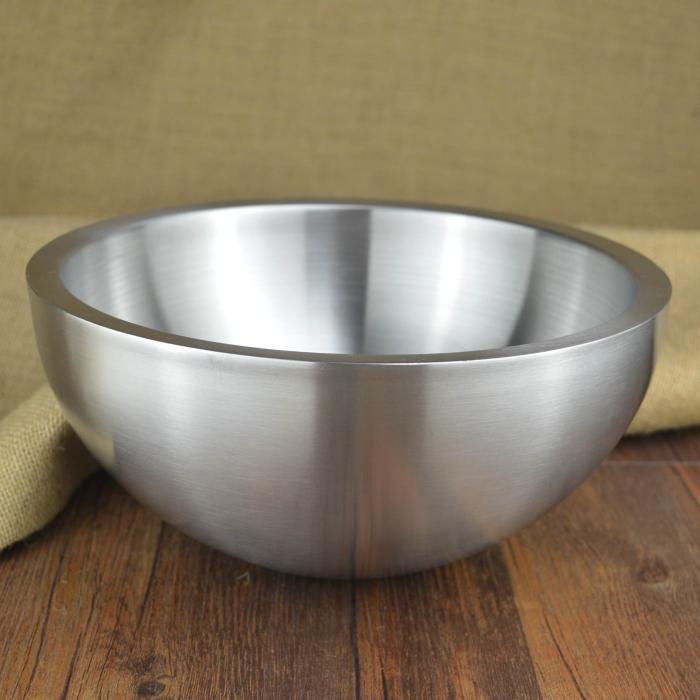 1 pcs Stainless steel salad bowl Liquid nitrogen bowl Liquid nitrogen ice cream car accessories