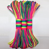 New Arrival RainBow Color Paracord Parachute Cord Camping Hiking Lanyard Rope Outdoor Climbing Equipment Survival Gear