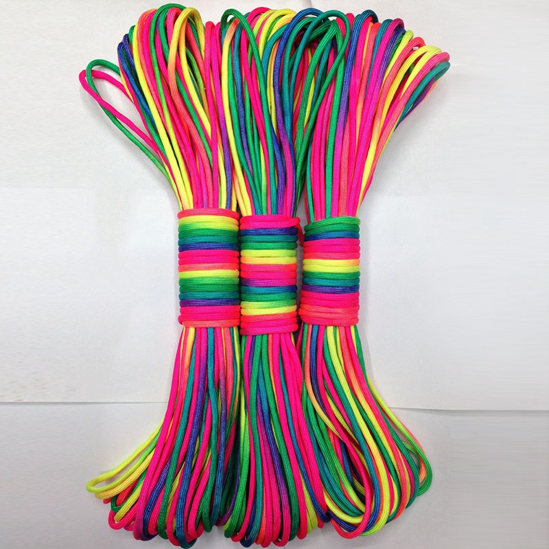 31 Meter Colorful Paracord 550 Parachute Cord Lanyard Rope Mil Spec Type III 7 Strand Climbing