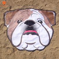 1Pcs Soft Microfiber 155*125cm Creative Cute Dog Beach Towel Beach Scarf Bikini Cover Up Yoga Mat Wall Tapestry