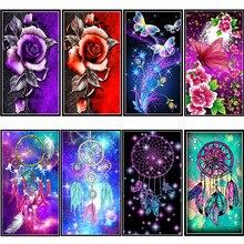 5D flower butterfly rose resin full diy diamond painting  mosaic beaded gift making tool bellbell pattern