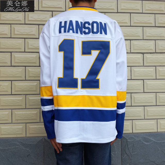 902f36020 MeiLunNa Christmas Black Friday Slap Shot Charlestown Chiefs Hockey Jerseys   17 Steve Hanson Brothers Jersey Blue 1701